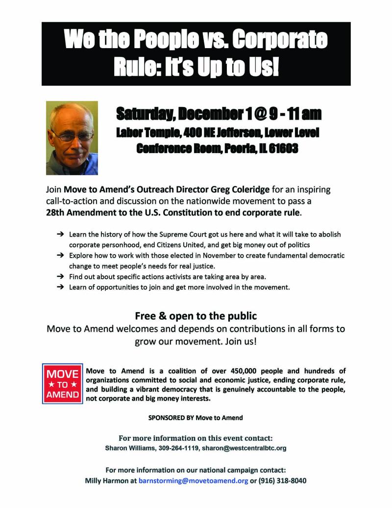 MOVE to AMEND Peoria  IL flyer